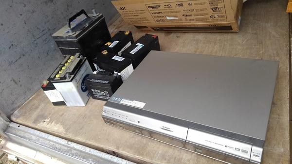 #久留米 で #バッテリー と#DVDレコーダー の #不用品回収 のご依頼ですサムネイル