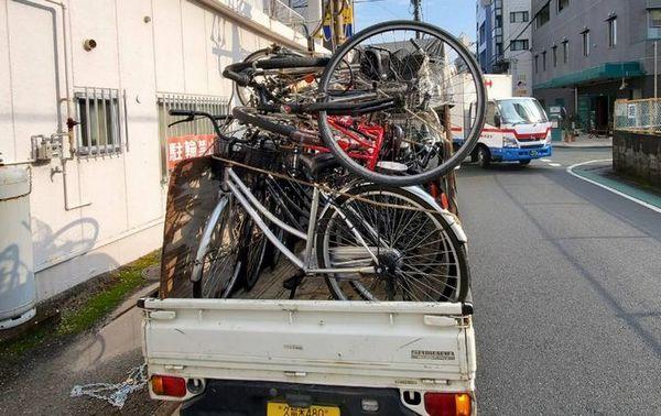 自転車定期回収:久留米市サムネイル