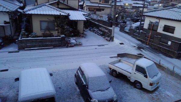 久留米市でも雪が!! こんなの初めて!!サムネイル