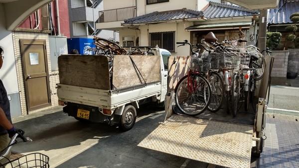 不用自転車の撤去:久留米市サムネイル